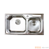 GORLDE优质不锈钢水槽/洗菜池 欧雅系列OY01(大小盆)
