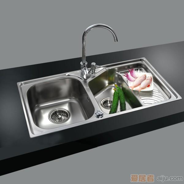 GORLDE优质不锈钢水槽/洗菜池 巴赫系列2103FY(深翼盆)2