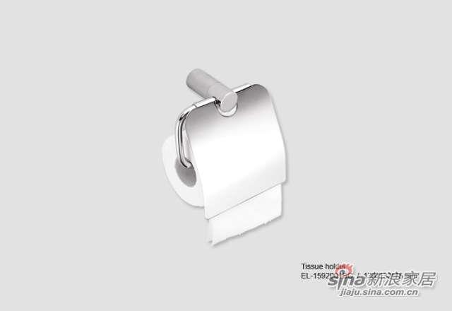 磨砂铬色厕纸架-0