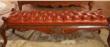 古典樱桃色黄杨木床尾凳