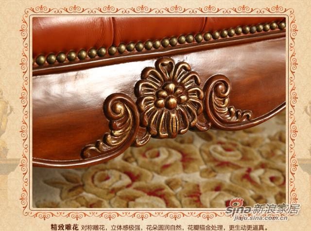 安妮皇后美式古典樱桃色黄杨木床尾凳-3