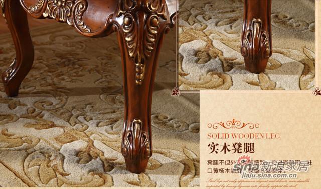 安妮皇后美式古典樱桃色黄杨木床尾凳-4