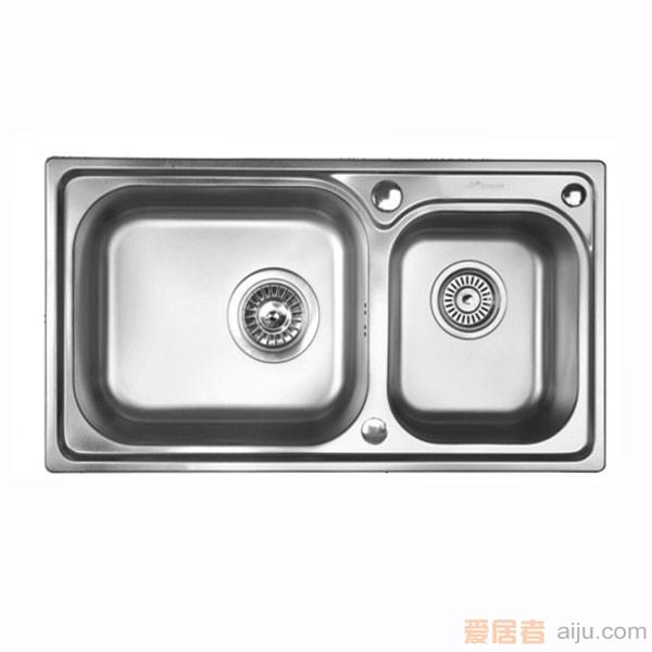 GORLDE优质不锈钢水槽/洗菜池 巴赫系列W2028FY(大小盆)1