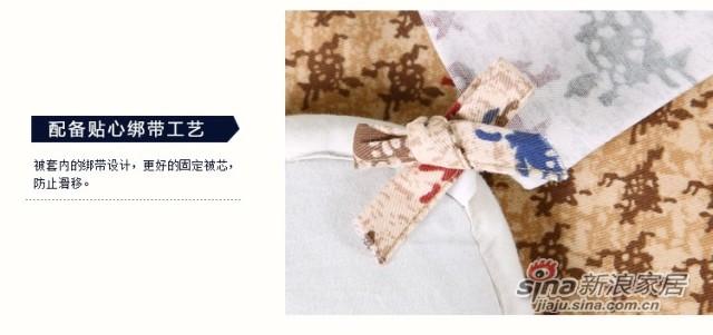 lovo全纯棉磨毛床单四件套件-4