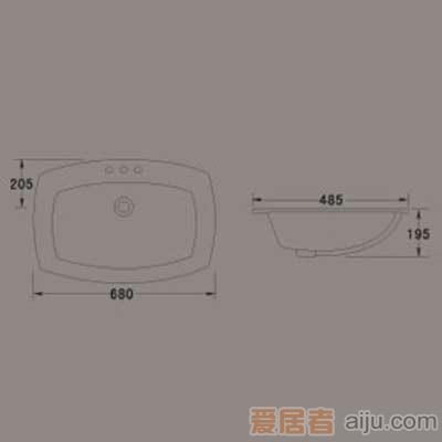 惠达台盆-HD182