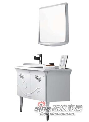 箭牌卫浴实木浴室柜-1