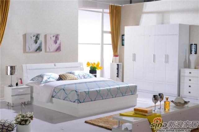 岁月留香系列-Q23015床+Q2301-2床头柜+Q23015五门衣柜
