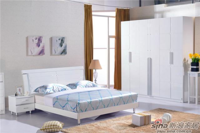 岁月留香系列-Q23028床+Q2301-2床头柜+Q23028六门衣柜