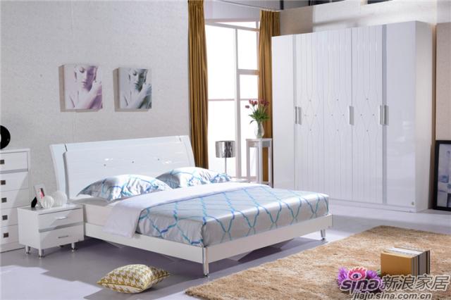 岁月留香系列-Q23029床+Q2301-2床头柜+Q23029五门衣柜