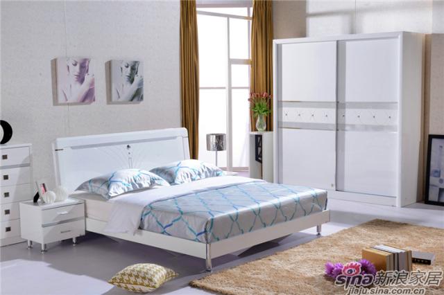 岁月留香系列-Q23030床+Q2301-2床头柜+Q23030两推门衣柜