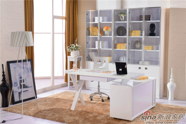 岁月留香系列-Q23281二门书柜+Q23281三门书柜+Q23281书桌