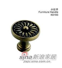 雅洁AK6183-21圆形拉手+青古铜-0