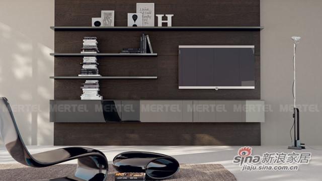 个性电视背景墙 图书搁板架-0