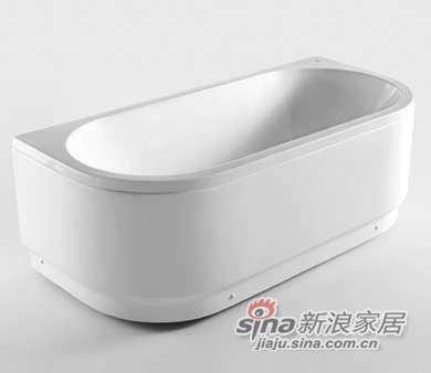 和成卫浴半圆型压克力裙边浴缸 - F6575T-0