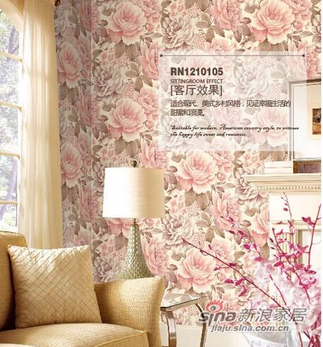柔然壁纸 美式田园立体花型-0