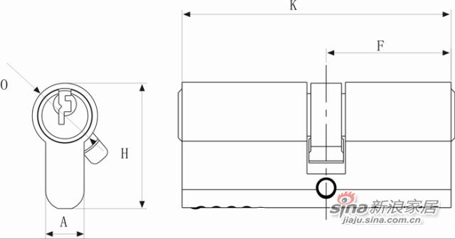 双排防盗锁芯-1