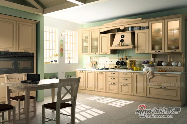 暖色调厨房橱柜 原汁原味欧陆风情