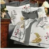 紫罗兰家纺床上用品全棉斜纹印花四件套叶影墨韵PCKA327-4