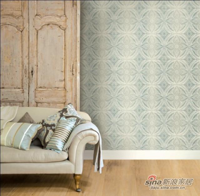 欧式美式 纯纸墙纸-4
