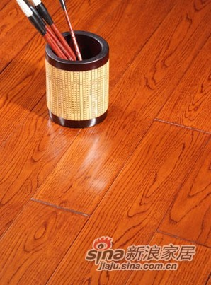 【永吉地板】实木仿古塞尚系列——橡木柚木色