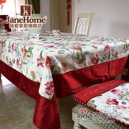 janehome欧式乡村桌巾