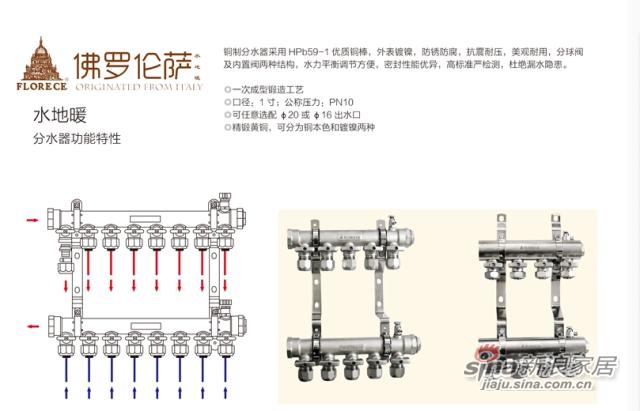 佛罗伦萨 地暖管专用管材 PRET管 地暖地热采暖分水器地暖