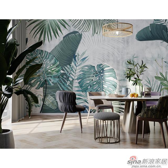 挪威森林_郁郁葱葱的绿植肆意生长壁画客厅、办公室壁画背景墙_JCC天洋墙布