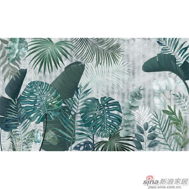 挪威森林_郁郁葱葱的绿植肆意生长壁画客厅、办公室壁画背景墙_JCC天洋墙布-1