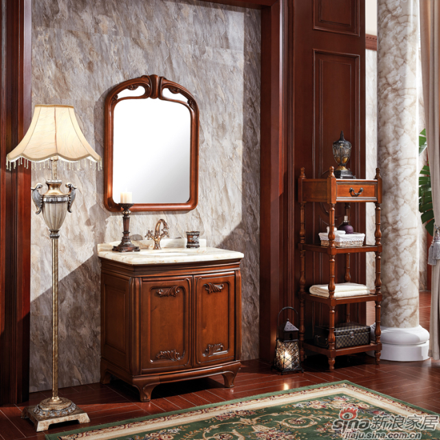 阿洛尼浴室柜-欧式仿古柜-A1809