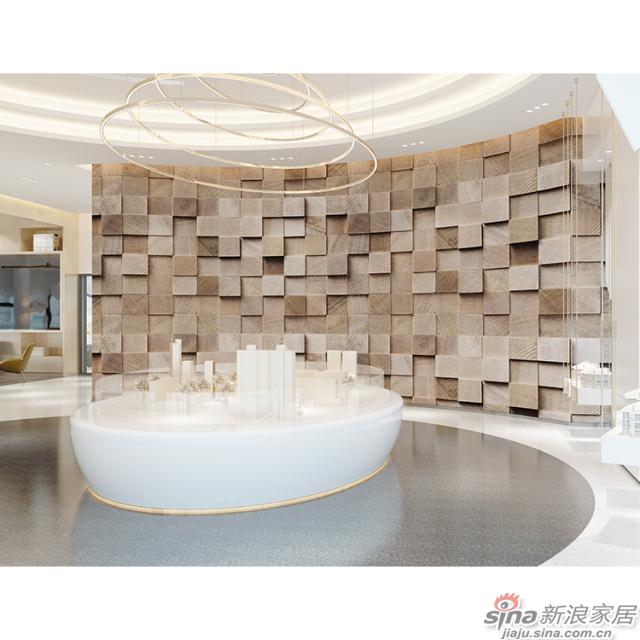 抒情律动_是律动钢琴键又是凹凸叠进的石砖办公室\大厅壁画背景墙_JCC天洋墙布