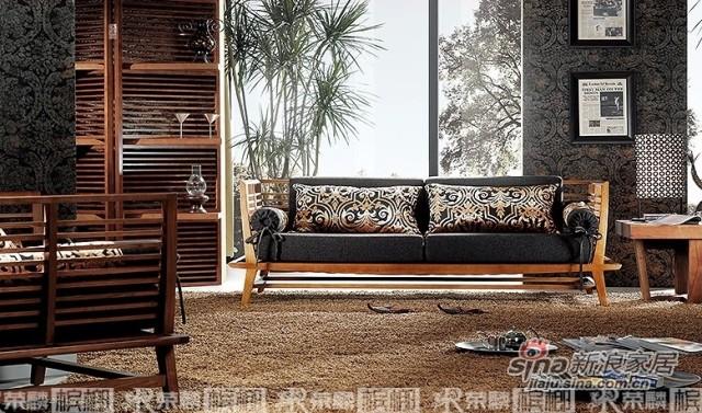 荣麟V020实木沙发
