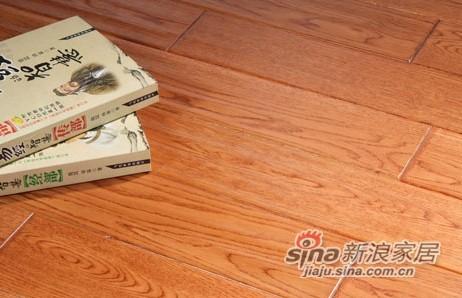 【永吉地板】实木仿古塞尚系列——橡木枪托色