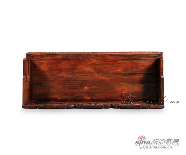 连天红云龙纹三人椅-4