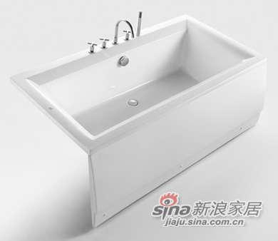 和成卫浴1.7米压克力裙边龙头浴缸 - F1700Q-0