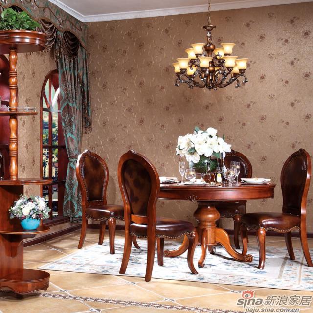 Z6038间厅柜+Z6060圆餐桌场景