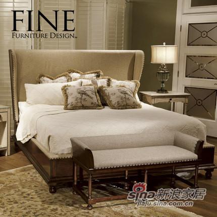 FINE精制美式现代家具实木框架带软靠美式乡村双人床床品质保证