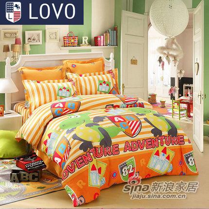 lovo罗莱家纺出品床上用品全棉被套纯棉床单三/四件套-0