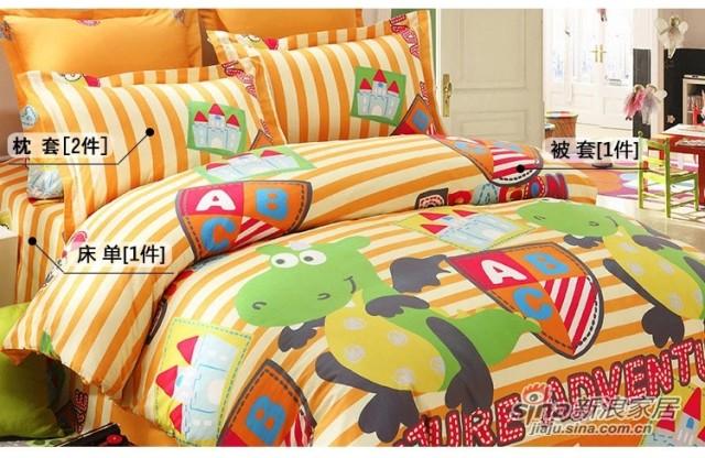 lovo罗莱家纺出品床上用品全棉被套纯棉床单三/四件套-2