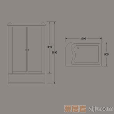 惠达-HD130BC蒸汽淋浴房2
