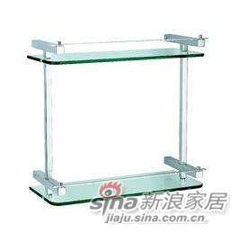 雅洁AT1112A-D7(10)双层玻璃架+沙银-0