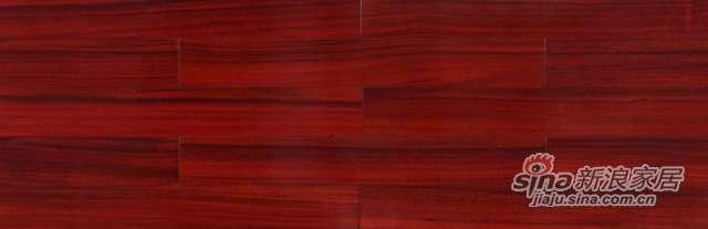 大卫地板经典实木-非洲印象系列S23L04圆盘豆(红色淋漆)-0