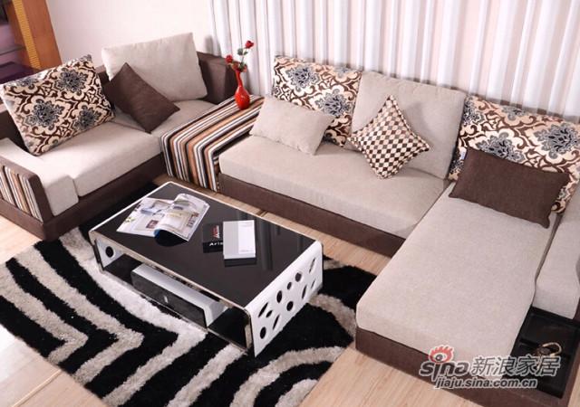 蓝鸟家具 布艺沙发 可拆洗沙发简约现代时尚家居LN-BY-0108