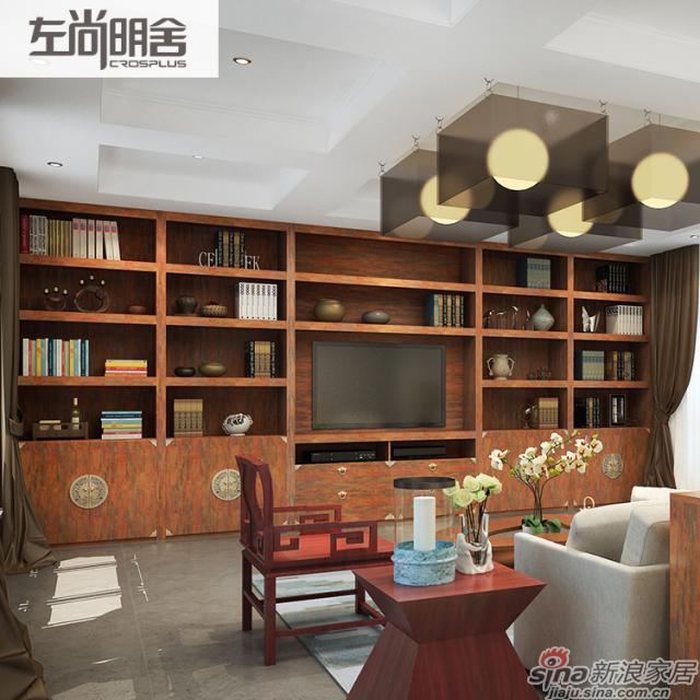 左尚明舍新中式客厅、客厅柜
