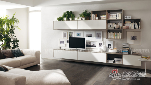 简约大气电视背景墙 客厅电视柜-0