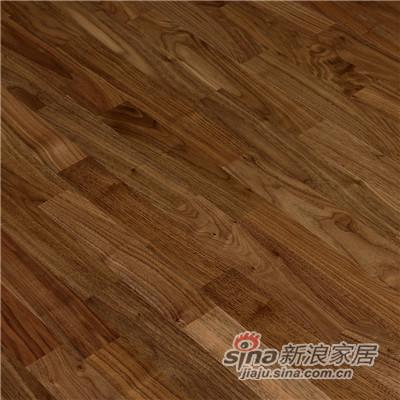 德合家BEFAG三层实木复合地板B55611三拼北美胡桃木-1