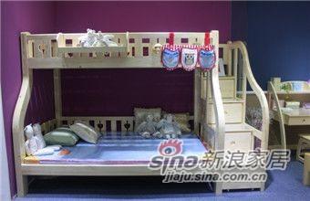 ABC实木儿童家具B019C踏步双层床-0