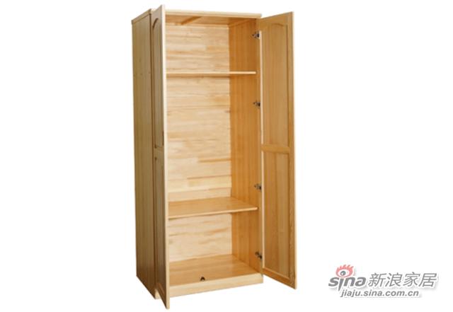 艾森木业名松屋松木系列全实木衣柜-0