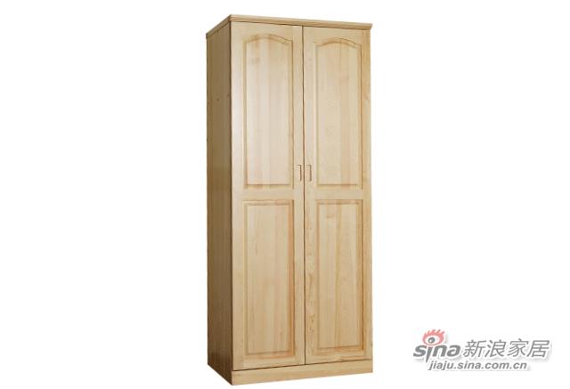 艾森木业名松屋松木系列全实木衣柜-1