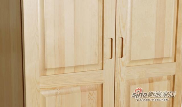 艾森木业名松屋松木系列全实木衣柜-2