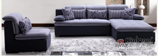 梵尔特灰色绒布布艺沙发组合